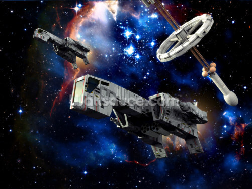Spaceships at War Wallpaper Wall Murals