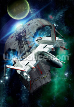 Spaceship Chase Wallpaper Wall Murals