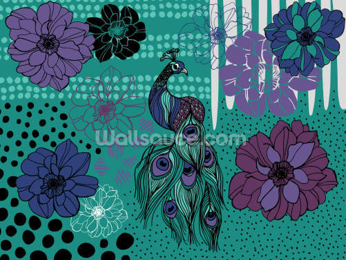 Soul Birds Peacock Wallpaper Wall Murals
