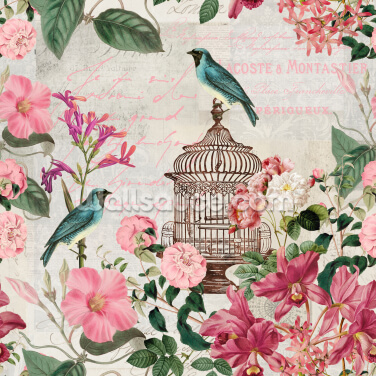 Birdcage Wallpaper Wall Murals