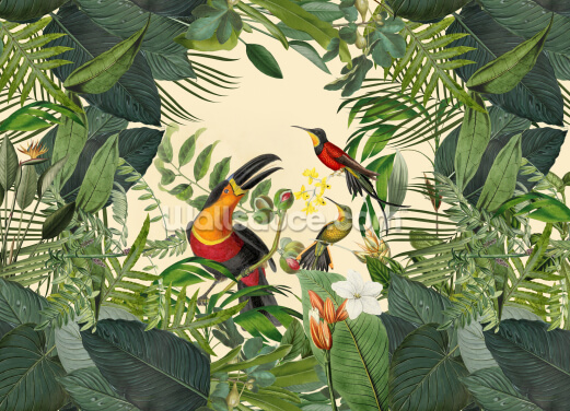 Toucans in the Jungle Wallpaper Wall Murals