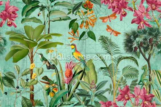 Tropical Paradise Wallpaper Wall Murals