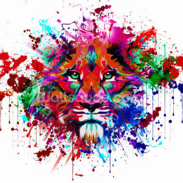 Lion Graffiti Wallpaper Wall Murals