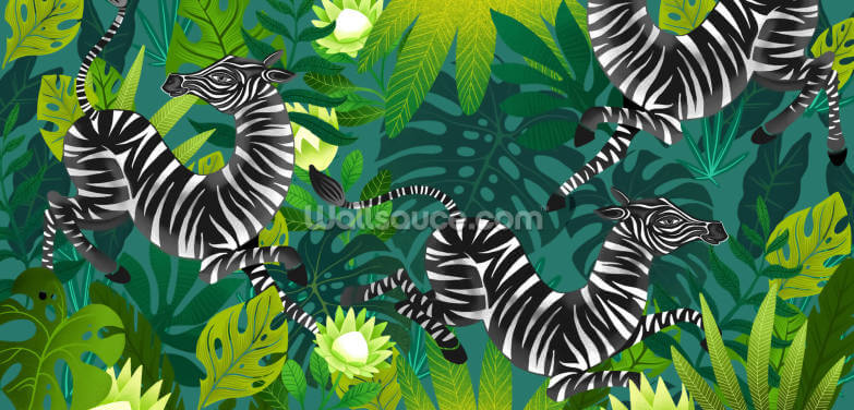 Dancing Zebras Wallpaper Wall Murals