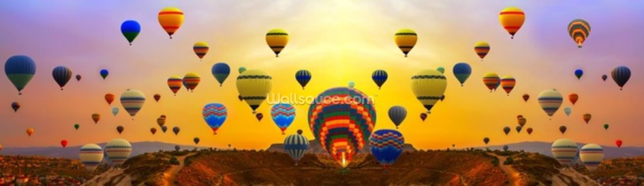 Sunrise Hot Air Balloons Wallpaper Wall Murals