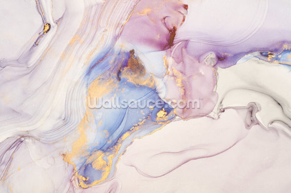 Dreamy Pastel and Gold Wallpaper Wall Murals