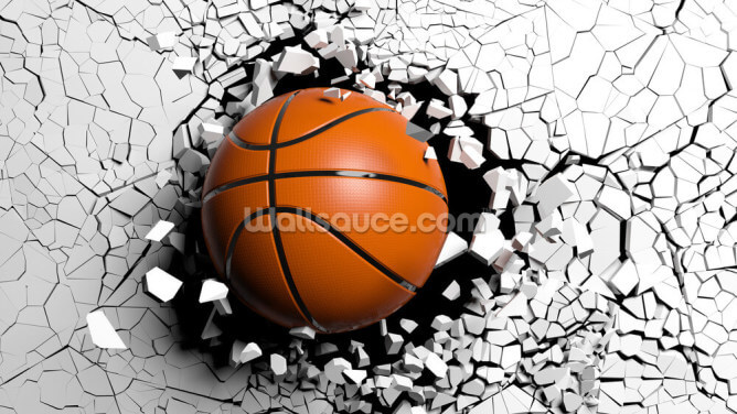 Basketball Explosion Wallpaper Wall Murals