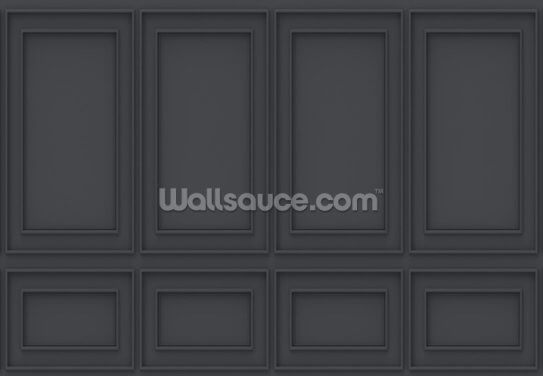 Luxury Off Black Panel Wallpaper Wall Murals