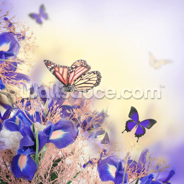 Bouquet of Butterflies Wallpaper Wall Murals