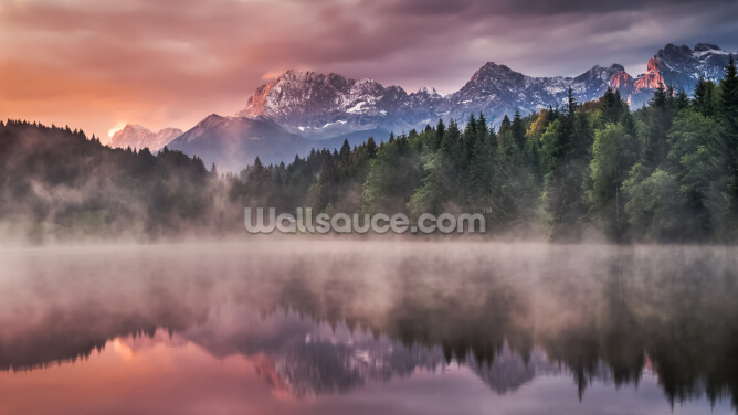 Sunrise at the Lake Wallpaper Wall Murals