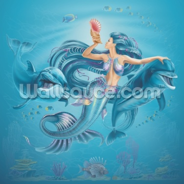 Dolphin Queen Wallpaper Wall Murals
