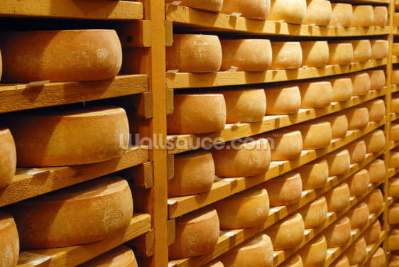 Cheese Stacked Wallpaper Wall Murals