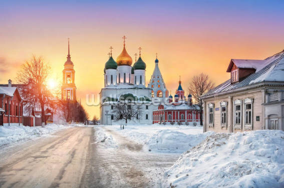 Russian Church at Sunset Wallpaper Wall Murals