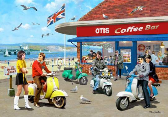 Mods Coffee Bar Wallpaper Wall Murals