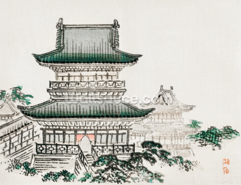 Japanese Architecture Wallpaper Wall Murals