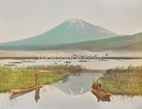 Mount Fuji as seen from Kashiwabara Wallpaper Wall Murals