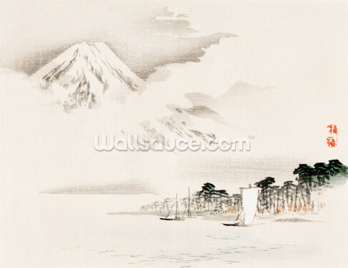 View of Mount Fuji Wallpaper Wall Murals