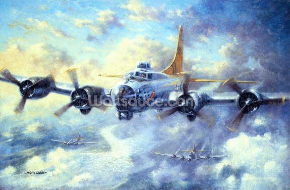 Flying Fortress Wallpaper Wall Murals
