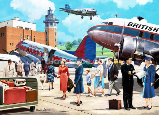 Vintage Airline Travel Wallpaper Wall Murals
