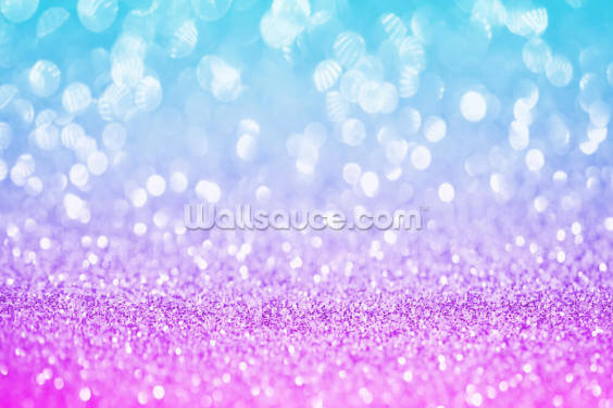 Abstract Blue and Purple Glitter Wallpaper Wall Murals