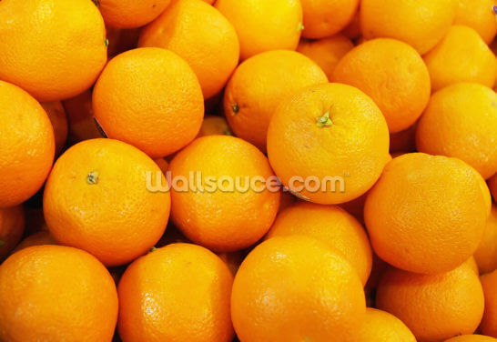 Fresh Oranges Wallpaper Wall Murals