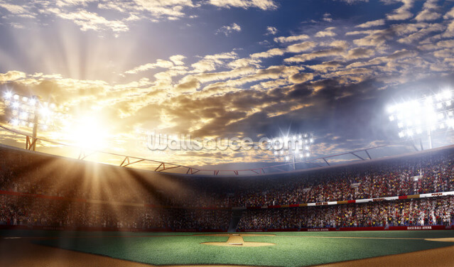 Sunset Baseball Wallpaper Wall Murals