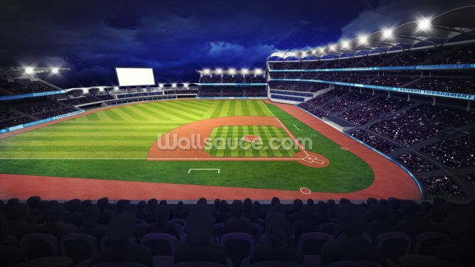 Baseball Stadium Wallpaper Wall Murals