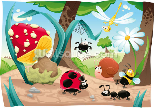 Cute Bugs Wallpaper Wall Murals