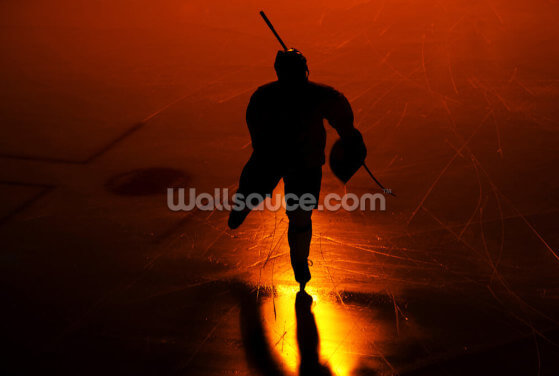 Ice Hockey By Night Wallpaper Wall Murals