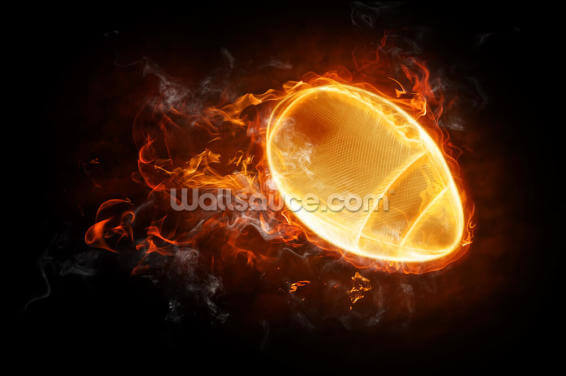 This Ball is on Fire Wallpaper Wall Murals