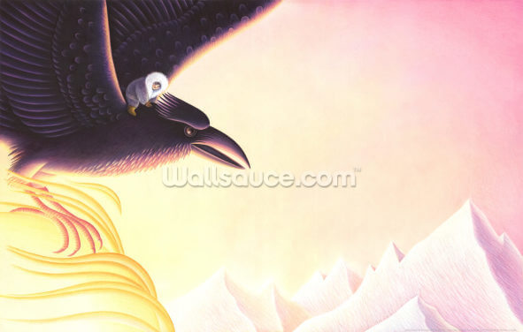 Raven and Little Darkness Wallpaper Wall Murals