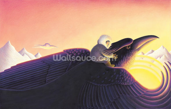 Raven Returns the Sun Wallpaper Wall Murals