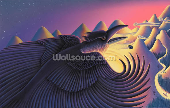 Raven Steals the Sun Wallpaper Wall Murals