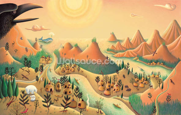 Raven's World Wallpaper Wall Murals