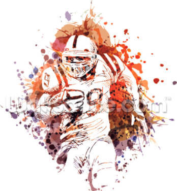 American Football Watercolour Wallpaper Wall Murals