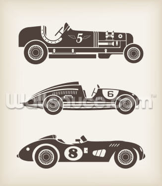 Vintage Racing Wallpaper Wall Murals
