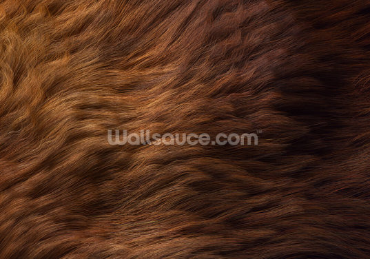 Brown Fur Print Wallpaper Wall Murals