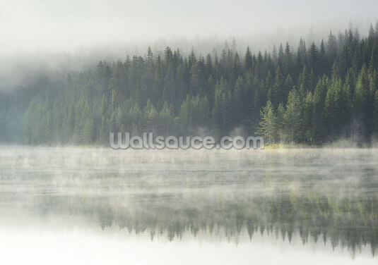 Misty Mirror at Beglika Dam Wallpaper Wall Murals