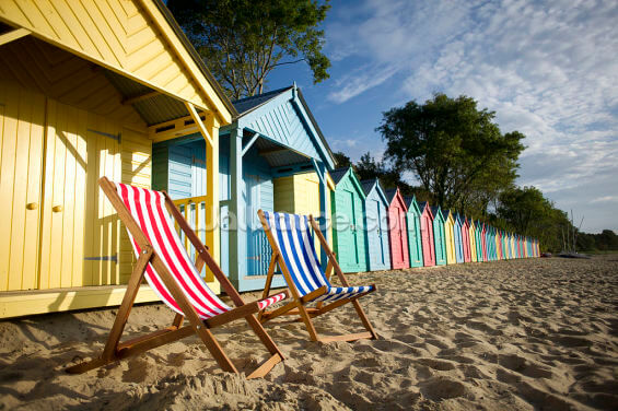 Deckchair Beach Wallpaper Wall Murals