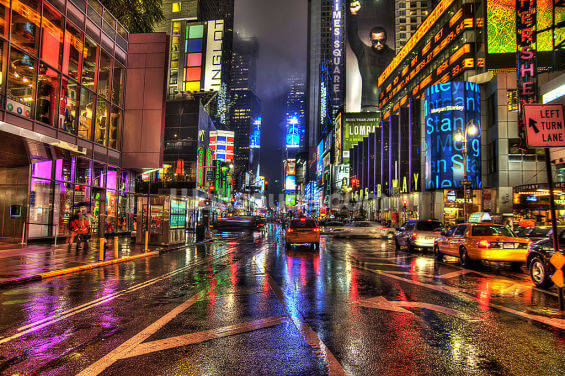 Times Square at Night Wallpaper Wall Murals