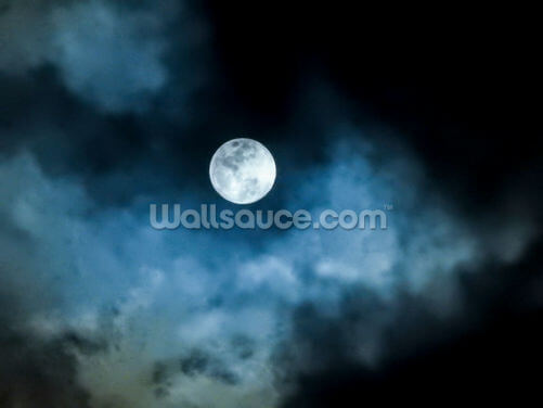Black and Blue Moon Wallpaper Wall Murals