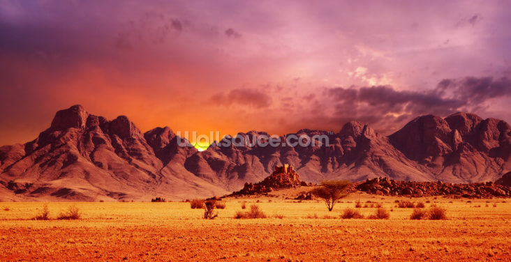Namib Desert Sunset Wallpaper Wall Murals