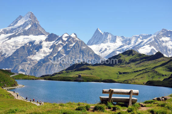 Mountain and Lake View Wallpaper Wall Murals