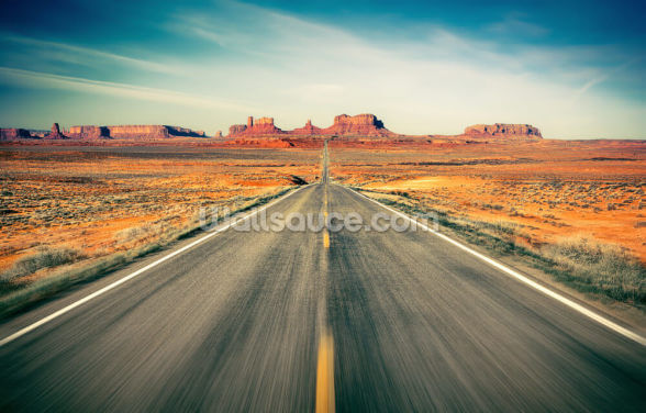 Monument Valley Highway Wallpaper Wall Murals