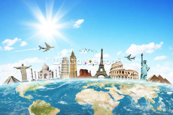 Monuments of the World Wallpaper Wall Murals