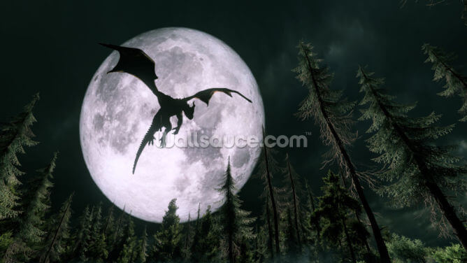 Dragon Moon Wallpaper Wall Murals