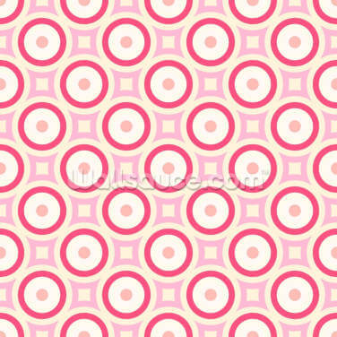 Circles - Red and Pink Wallpaper Wall Murals