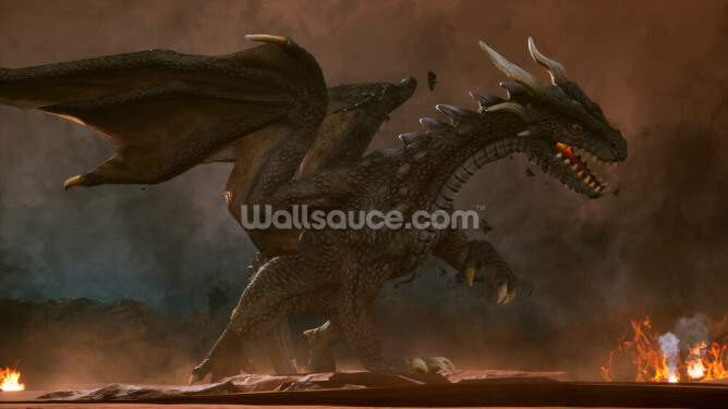 Green Dragon Wallpaper Wall Murals