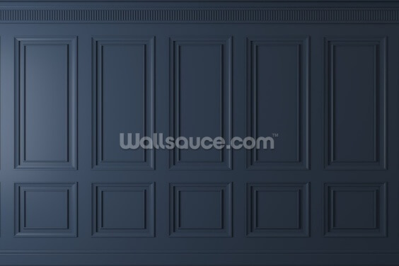Dark Blue Panel Wallpaper Wall Murals