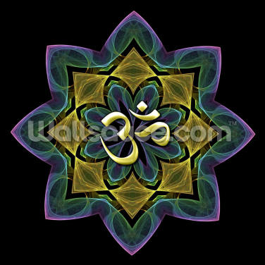 Fractal lotus aum Wallpaper Wall Murals